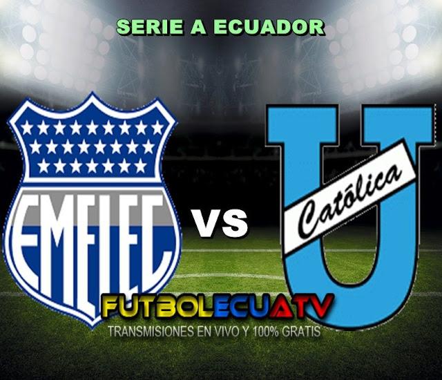 ¡Eléctricos y Celestes se juegan sus últimas chances! Emelec vs Universidad Católica se miden en vivo desde las 18:00 horario designado por la FEF a jugarse en el campo George Capwell prosiguiendo la fecha 18 de la Serie A Ecuador, con arbitraje principal de Roddy Zambrano siendo transmitido por los canales oficiales GolTV, DirecTV y CNT Sports.