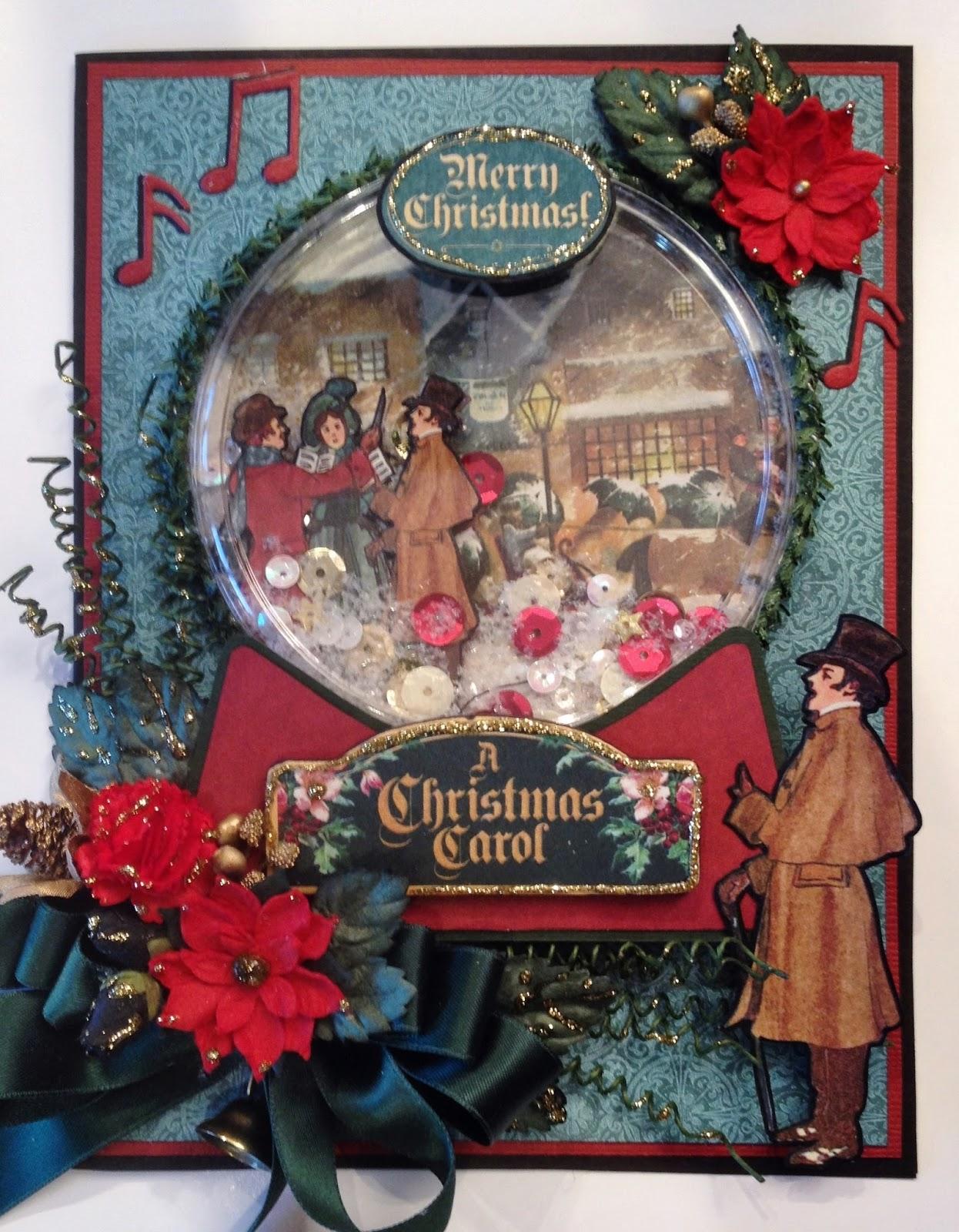 christmas carol snow globe