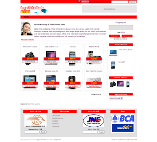 Homepage shopping cart - TTO