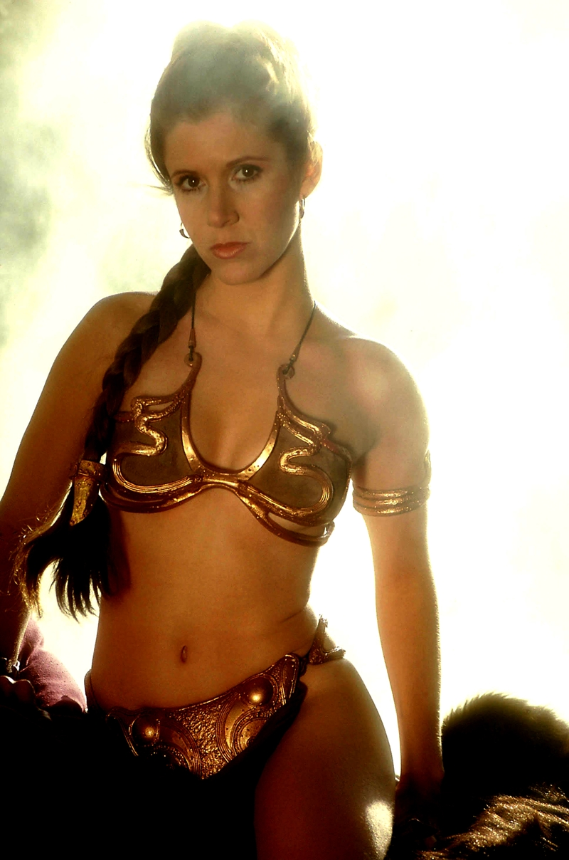 Carrie fisher princess leia slave amusing