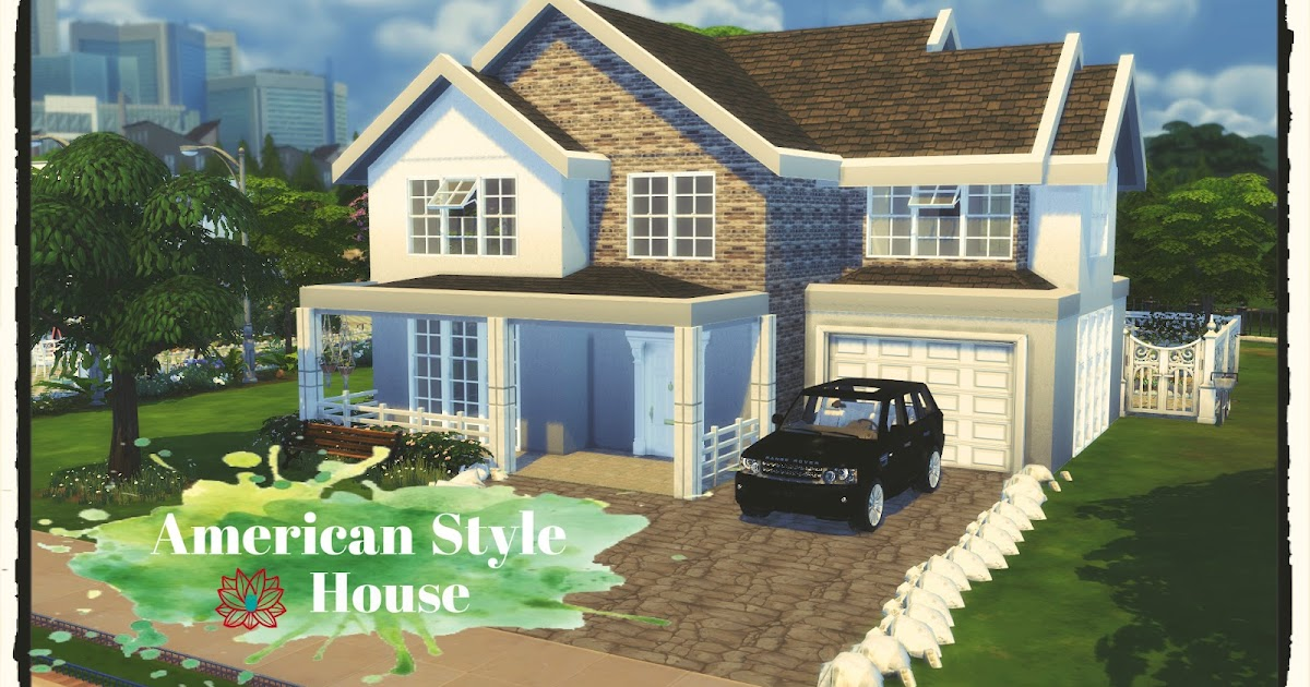 my sims 4 blog american style house by dinhagamer. Black Bedroom Furniture Sets. Home Design Ideas
