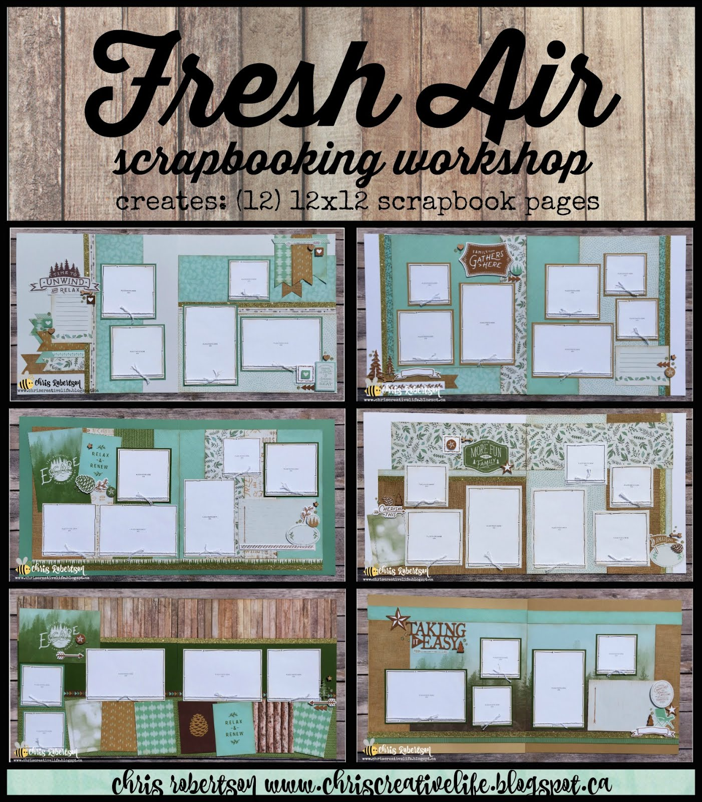 Fresh Air Scrapbooking Workshop