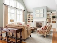 Wandfarben Landhausstil Wohnzimmer