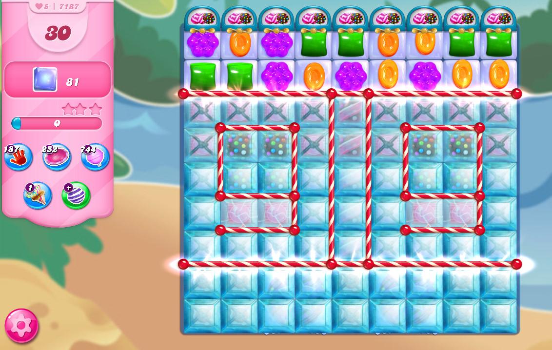 Candy Crush Saga level 7187