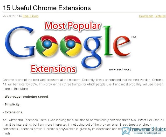 15 extensions utiles pour Google Chrome