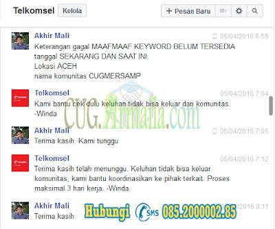 Cara UnReg Komunitas Telkomsel GRATIS - CEKSTATUS CUG ARMAILA