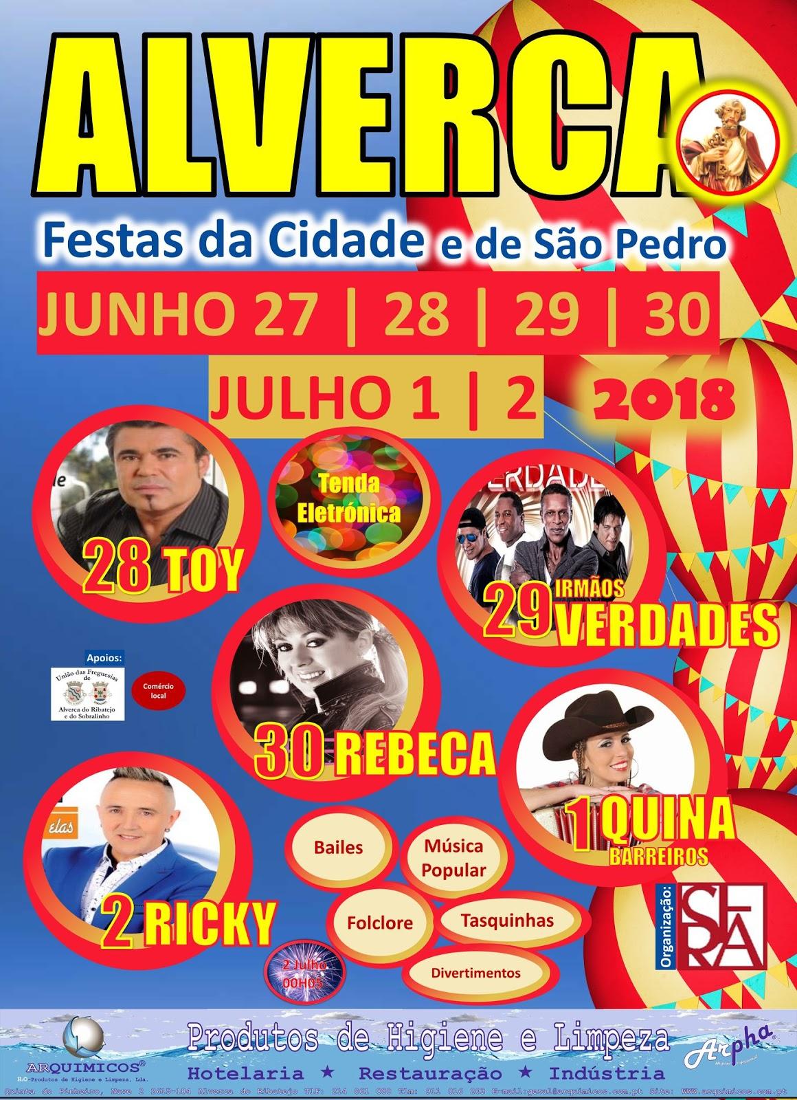 Programa Festa de de São Pedro em Alverca 2018