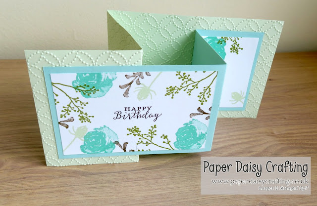 Double Z fold card with First Frost from Stampin Up