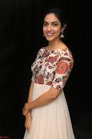Ritu Varma smiling face Cream Anarkali dress at launch of OPPO New Selfie Camera F3 ~  Exclusive 017.JPG