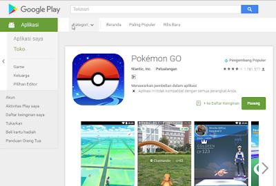 pokemon GO playstore