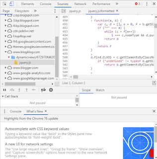 عرض شفرة مصدر صفحة الويب HTML ، CSS ، JavaScript في Google Chrome