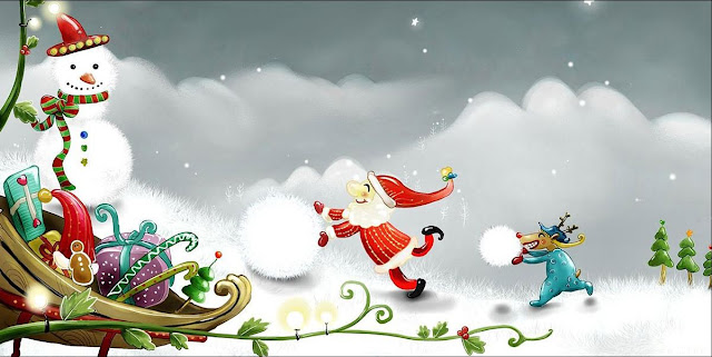 Free Christmas Santa Facebook cover photos