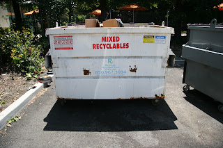 Dumpster in the Hacker Dojo's parking lot.
