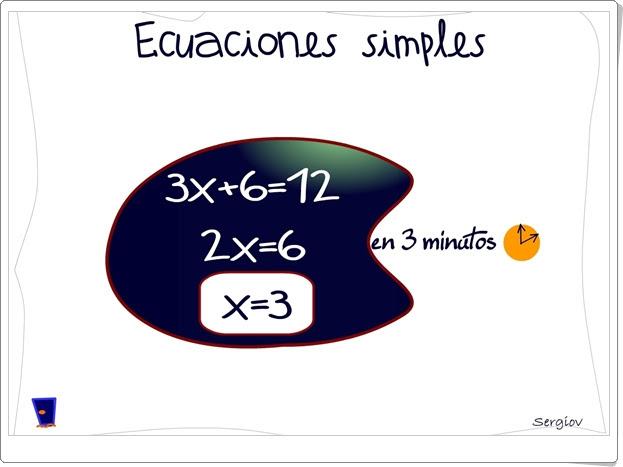"""""""Ecuaciones simples en tres minutos"""""""