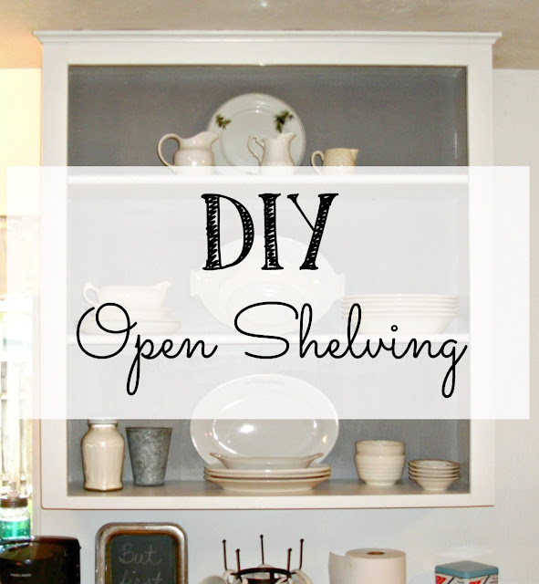 How to create open shelving from a standard kitchen cupboard