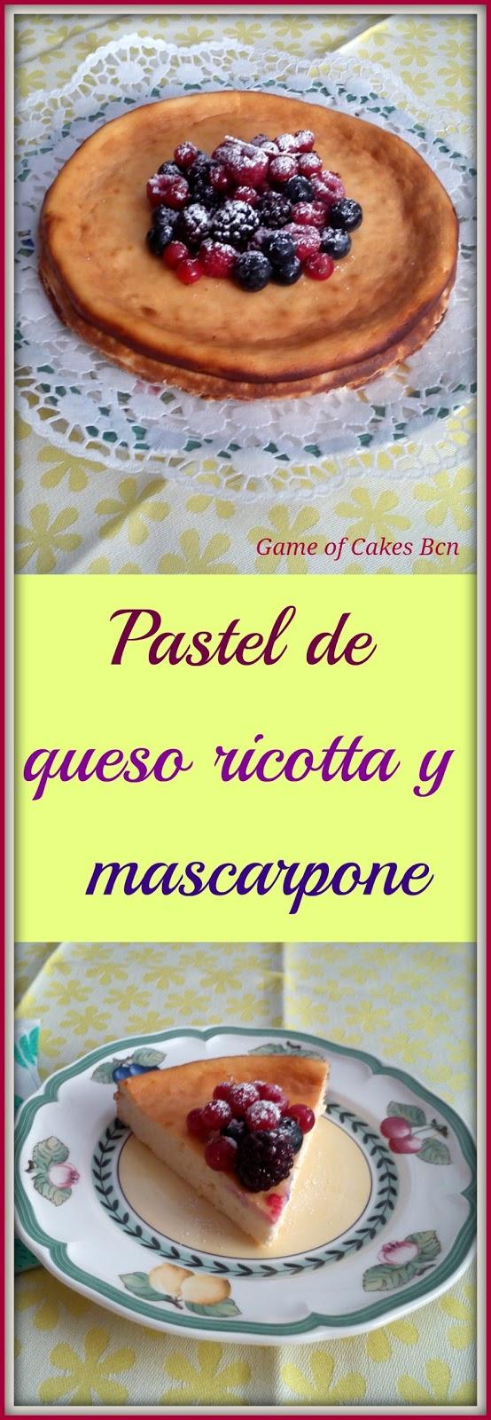 Varias fotos del Pastel de queso ricotta y mascarpone