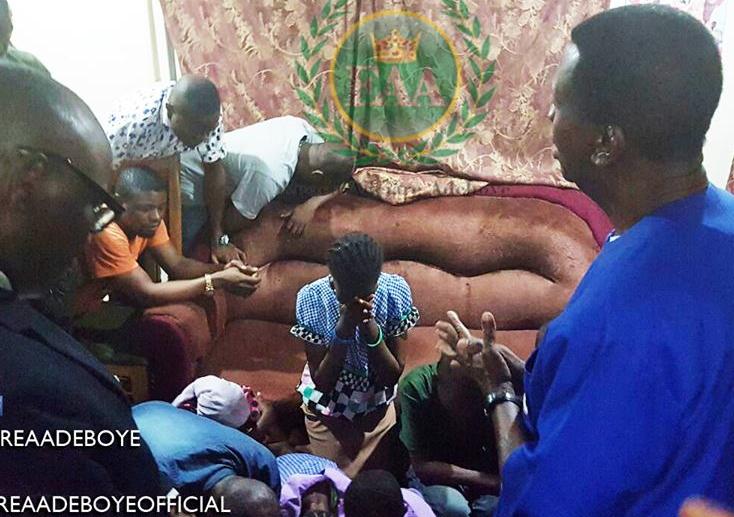 pastor adeboye visit olawale family