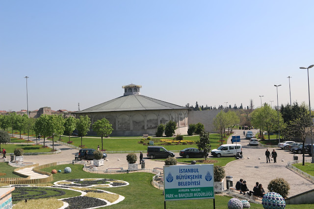 Heading to the building of Panorama 1453 History Museum which is located nearby Chora Church (Kariye Museum) in Istanbul, Turkey