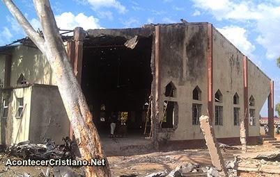 Iglesia destruida en Nigeria por persecución