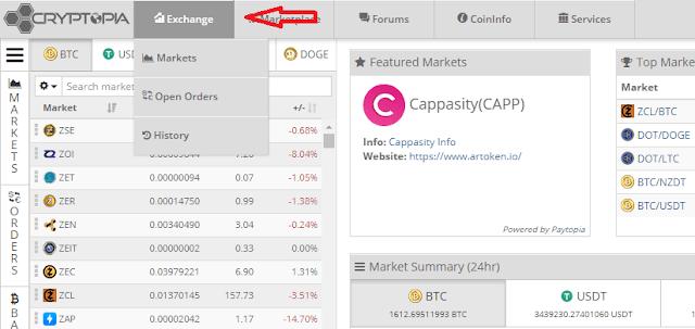 Как торговать на бирже Криптопия
