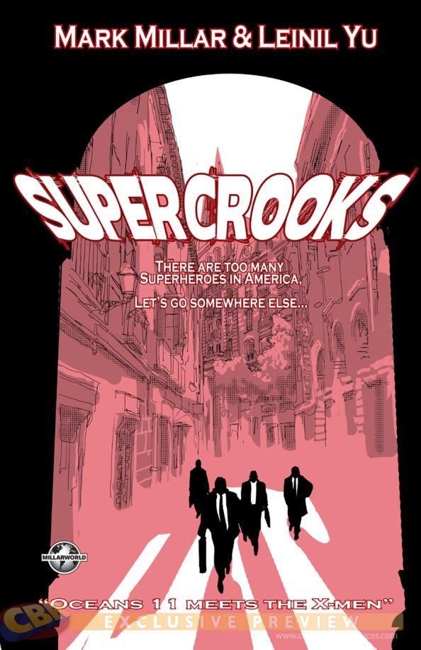 Portada de SuperCrooks de Mark Millar y Leinil Yu