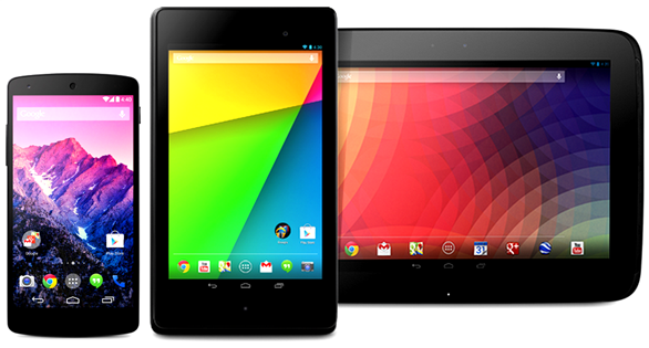 Nexus Smartphones and Tablets