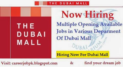 Opening Jobs in Emaar Dubai Mall