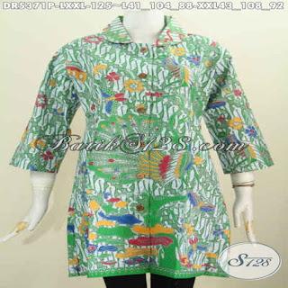 blus batik kombinasi polos modern