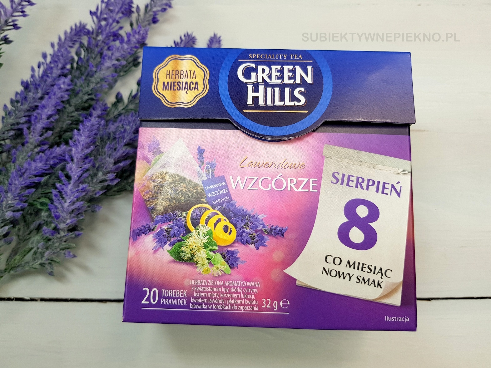 zielona herbata lawendowe wzgórze green hills biedronka