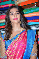 Puja Hegde looks stunning in Red saree at launch of Anutex shopping mall ~ Celebrities Galleries 082.JPG