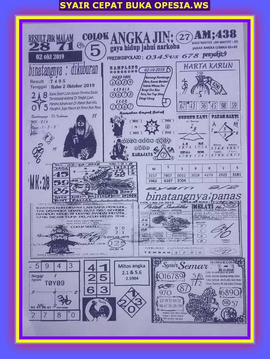 Kode syair Hongkong Rabu 2 Oktober 2019 35