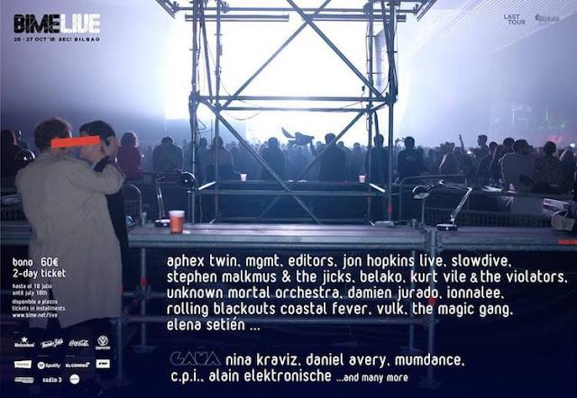 BIME, LIVE, 2018, Cartel, Festival, Bilbao