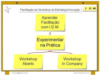 Facilitação Workshop Estrategia Inovação IDM Innovation Decision Mapping Experiência