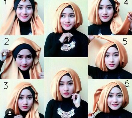 Tampil Elegan Dengan Cara Memakai Hijab Modern Untuk Long Dress Yang Gak Bikin Ribet