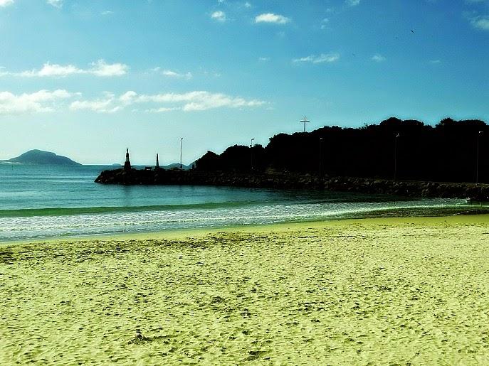 Praia da Barra da Lagoa (da Conceição), em Florianópolis