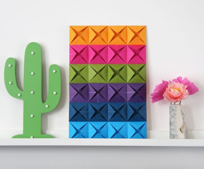 Cara Membuat Hiasan Dinding Kelas Dari Kertas Origami