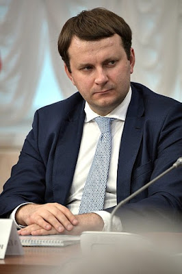 Minister of Economic Development Maxim Oreshkin at a meeting of the Council for the Local Self-Government Development.