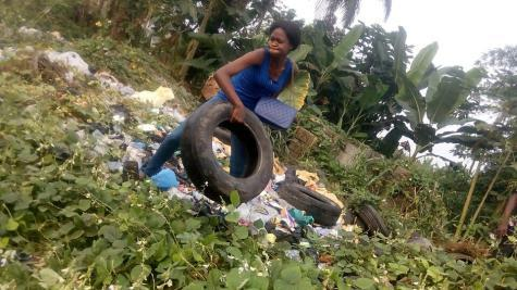 bettu1 - Nigerian Lady Creates Beautiful Brand New Furniture With Condemned Tyres Gotten From Dustbins (See Photos)