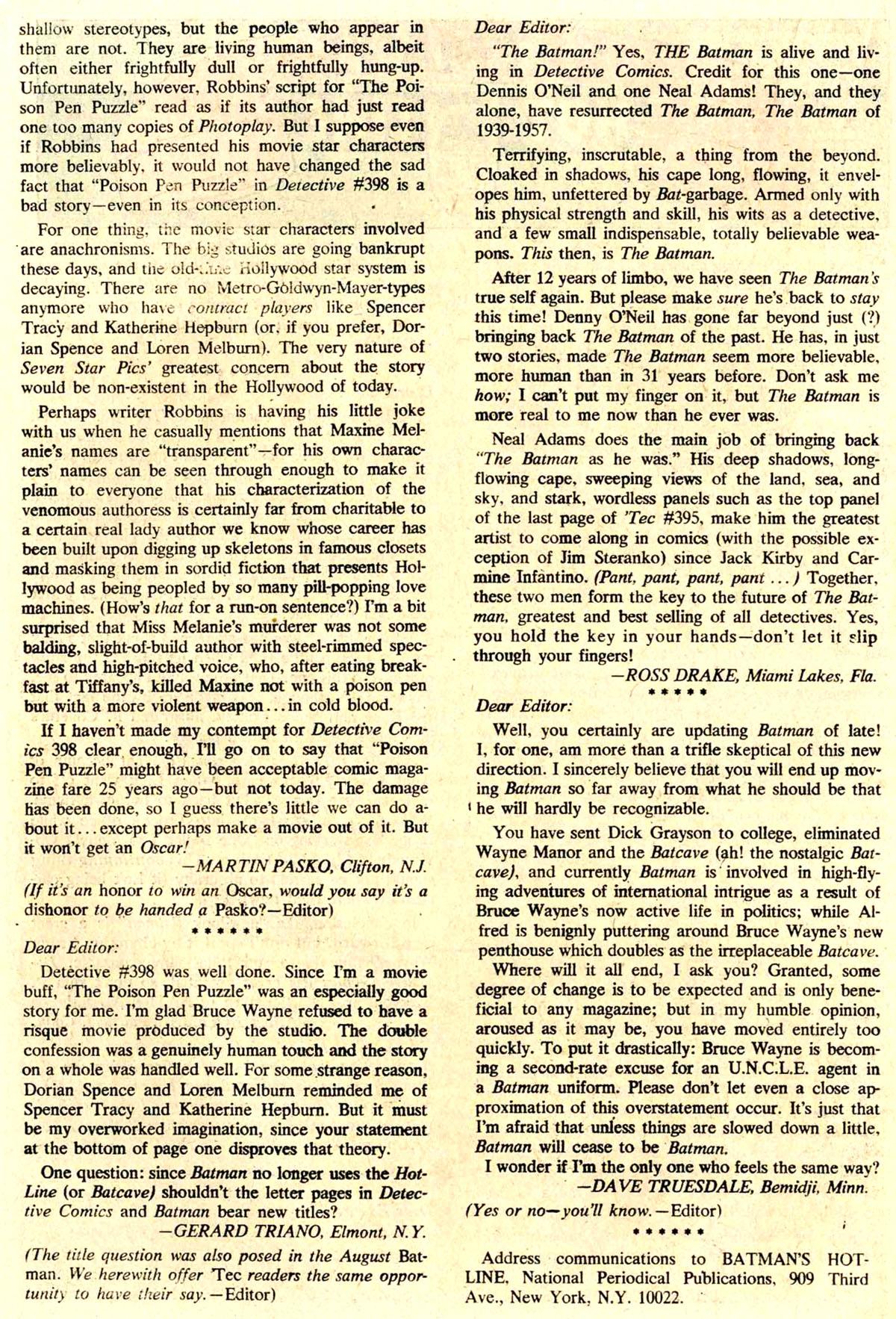 Detective Comics (1937) 402 Page 21