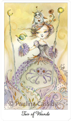 Joie de vivre Tarot Two of Wands Paulina Cassidy blog blogger