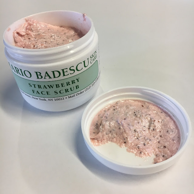 Mario Badescu, Mario Badescu Strawberry Face Scrub, face scrub, exfoliator, skin, skincare, skin care, On Wednesdays We Wear Pink