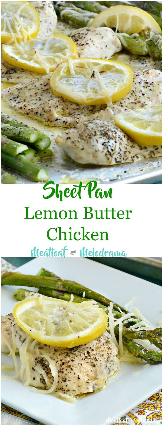 Sheet Pan Lemon Butter Chicken and Asparagus