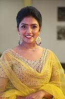 Actress Eesha in Yellow Choli Blue Ghagra at Darshakudu music launch 008.JPG