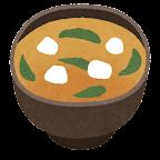 給食のイラスト(お味噌汁)