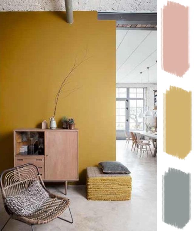 Mur Ocre lovers of mint : blog déco bohème et cool lifestyle