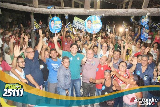 """""""Vamos trabalhar Muito Mais""""; garante deputado Paulo Neto durante grande reunião organizada pelo Advogado Dr. Aldy Junior em Chapadinha."""