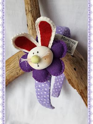 Cerchietto per capelli bambina coniglietto