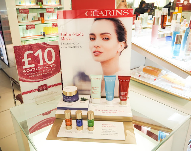 Clarins Chester Counter for Skincare