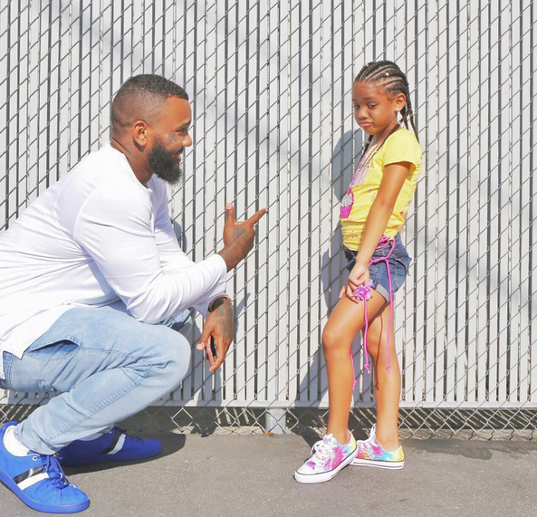 Welcome To Debola S Blog Adorable New Photos Of The Game And His Daughter Cali