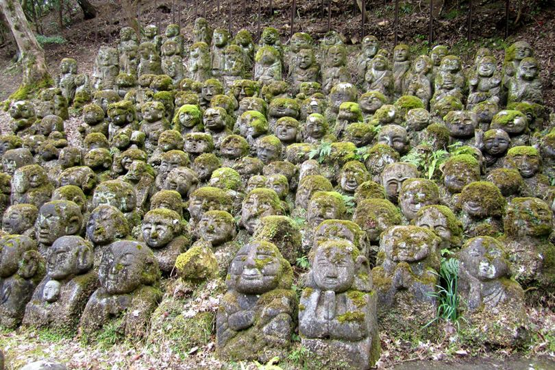 Otagi-Nenbutsu-ji, The Temple of 1,200 Statues in Kyoto, Japan